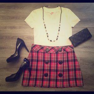Pink plaid Express mini skirt